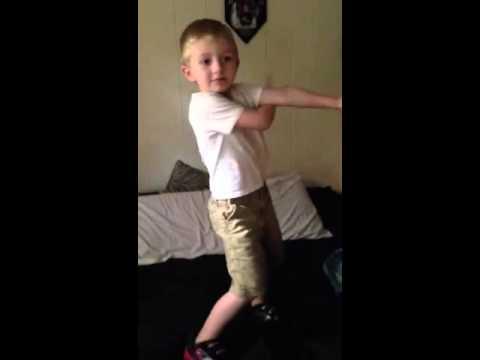 4 year old singing MattyBRaps - Ice Ice Baby