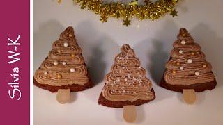 Schokobäumchen / Schokoladenkuchen / Schokobaum / Weihnachtsgebäck / ohne Gelatine