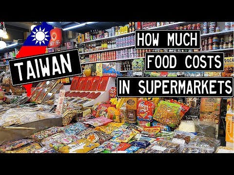 2019 Taiwan - How Expensive is Food in a Supermarket?