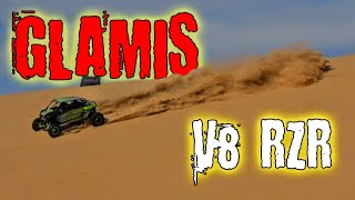 Duning GLAMIS with a V8 LS2 Polaris RZR!