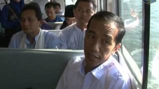15 Feb 2013 Gub Bpk. Jokowi uji coba transportasi air rute Marunda-Muara Baru