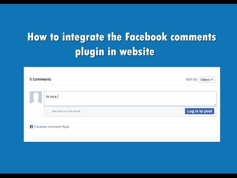 How To Integrate The Facebook Comments Plugin In Website