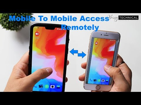 HOW TO CONNECT MOBILE TO MOBILE REMOTELY FREE  (Hindi-हिंदी])