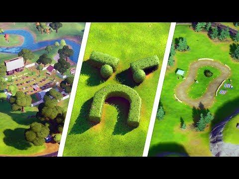 Visit Grumpy Greens, Mowdown, And Risky Reels All Locations - Fortnite Challenge