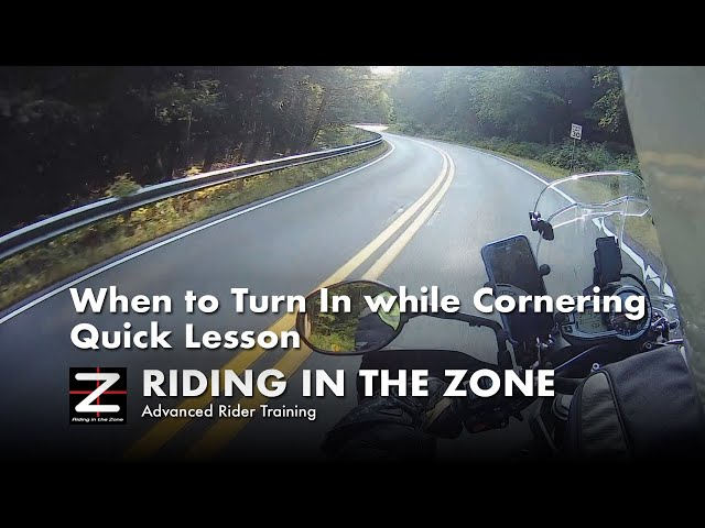 When to Turn In - Cornering on a Motorcycle Quick Lesson