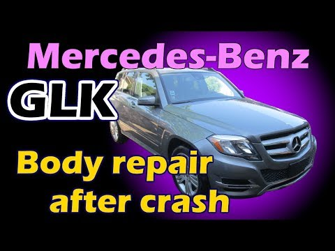 Mercedes GLK. The body repair. Ремонт кузова.