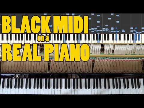 BLACK MIDI On a Real Piano! - U.N. Owen was her? The Death Waltz