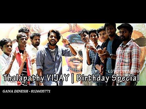 Chennai Gana_ Mersal Gana DINESH | Thalapathy VIJAY | Birthday Special SONG 2018