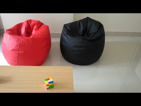 Orka XL Bean Bag Cover - Black & Red Review in hindi
