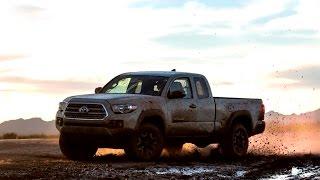 Новый пикап Toyota Tacoma 2015 - обзор Александра Михельсона(Toyota представила новое поколение пикапа Tacoma. Дизайн, двигатели и эффектная демонстрация внедорожных возмож..., 2015-01-13T09:48:06.000Z)