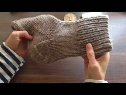 Вяжем носки на двух спицах. Часть 1