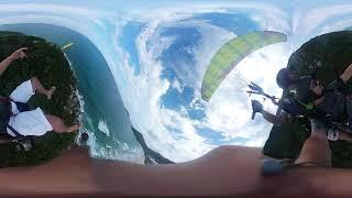 Floripa 360º. Paulo Eliezer em um voo duplo na O.V.N.I. Parapente.