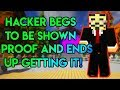 Hypixel Hacker BEGS Me to Expose Them!