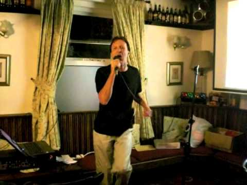 Karaoke at The Station, Silkstone Common - Malc Dyson on top form