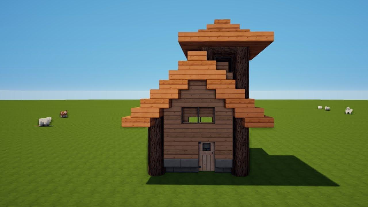 Minecraft Kleines Holzhaus Mit Turm Bauen Tutorial Haus 88