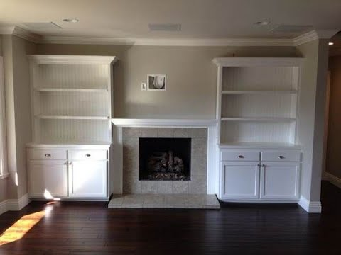 Shelving Around Fireplace