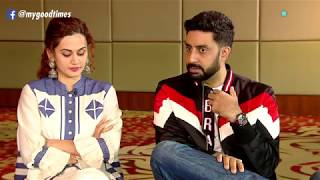 Interview with Abhishek Bachchan, Vicky Kaushal and Taapsee Pannu. Manmarziyan with Puja Talwar