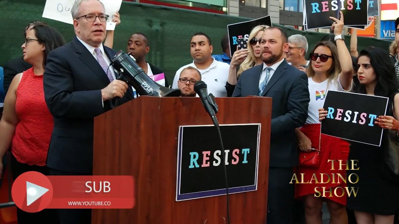 Scott Stringer Speech @ Transgender Rally in Times Square #1