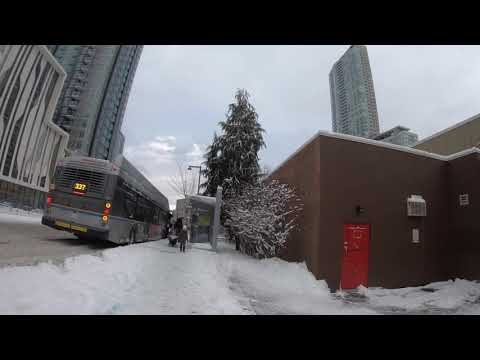 [4K] Walk In Surrey BC, Canada Rare Snow Day In Whalley