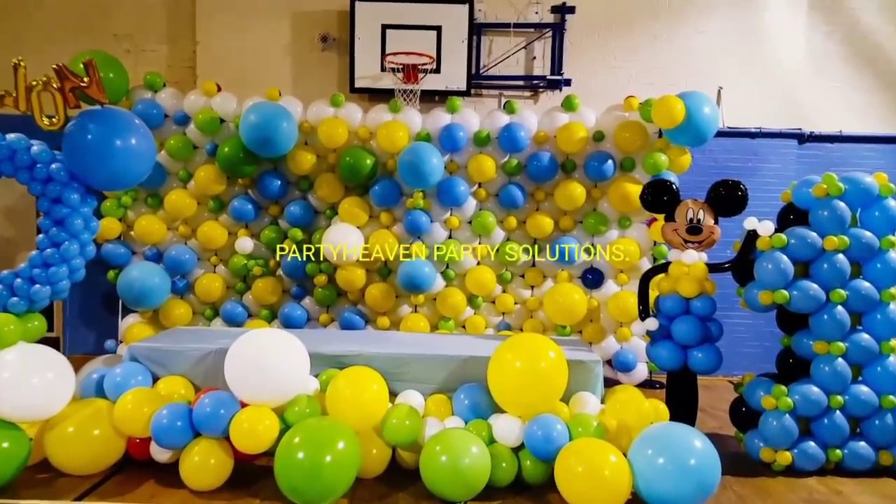 Organic Balloon Wall (Mickey Mouse) - YouTube