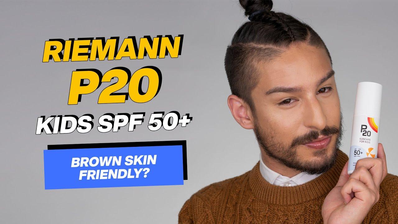Riemann P20 Kids SPF20+ Review + Wear Test   Brown Skin Friendly