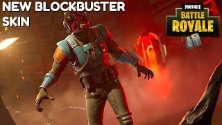 "Fortnite:Battle Royale ""Blockbuster Skin"" Unlocked - Visitor Skin Gameplay (New Skin)"