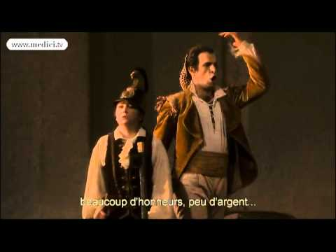 """Luca Pisaroni sings Figaro's aria """"Non più andrai"""" from Le Nozze di Figaro at the Opéra Bastille"""