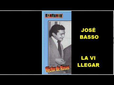 JOSÉ BASSO  - HÉCTOR DE ROSAS  -  LA VI LLEGAR  - TANGO