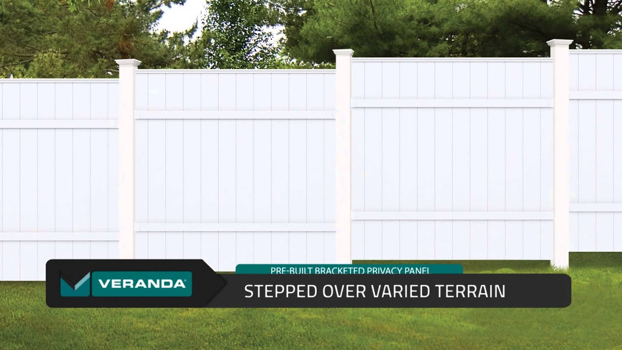 Pre built Bracketed Privacy Vinyl Panels by Veranda
