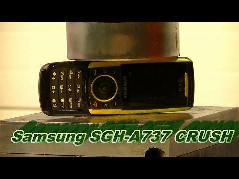 Hydraulic Press Vs Samsung Cell Phone SGH A737 ATTCRUSH