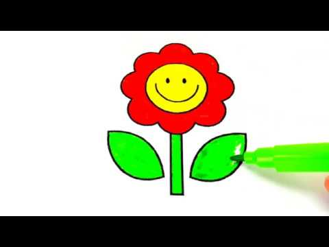 flowers-coloring-pages-coloring-for-kids- -colors-video-for-children