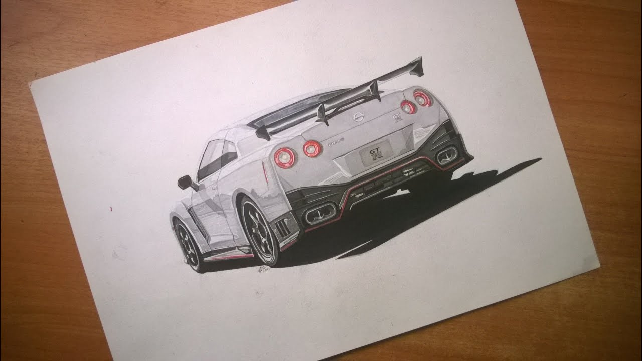 Drawing Nissan Gt R Nismo Youtube