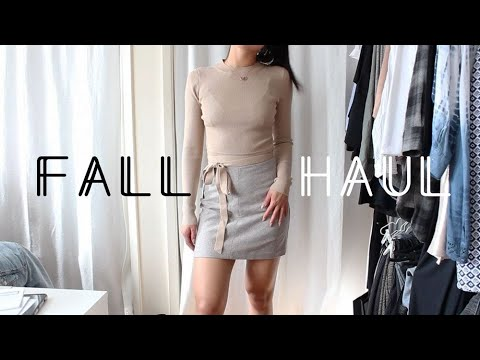HUGE Fall Try-On Haul 2017 + mini closet tour | Speak of the Angel