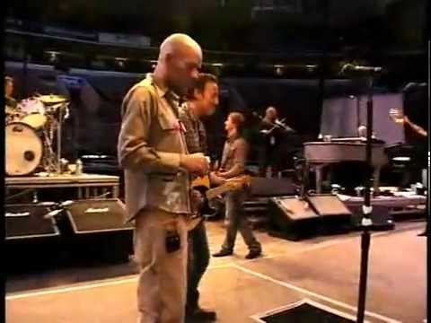 Michael Stipe of R.E.M. and Bruce Springsteen
