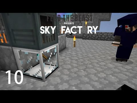 Sky Factory 3 w/ xB - POWER AND AUTO HAMMER [E10] (Minecraft Modded Sky Block)