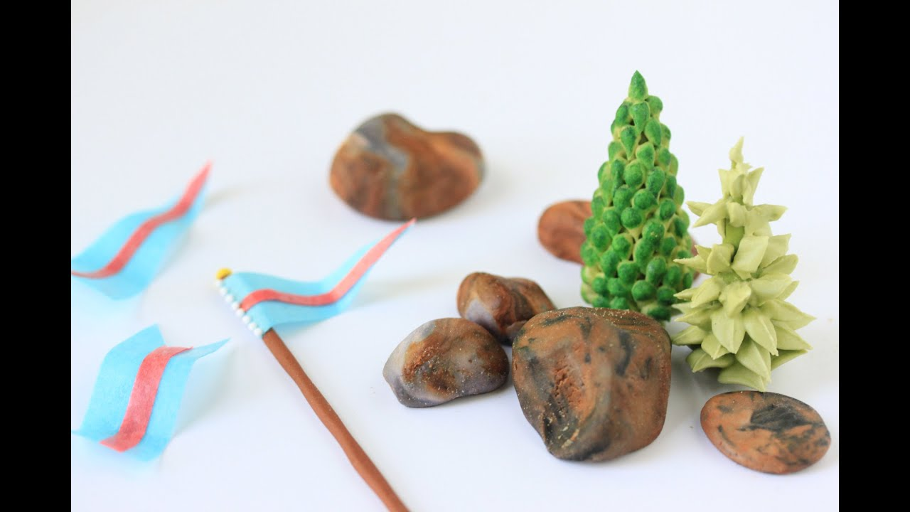 How To Make Edible Trees Rocks And Flags For My 3 D Castle Cookie