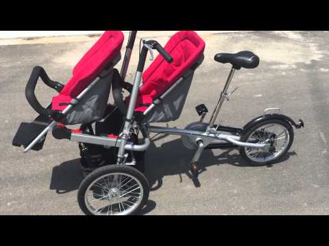 ZZMERCK M-TG05 Baby Bike Stroller with Second Seat
