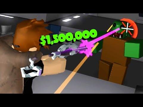 BUYING MILLION DOLLAR ALIEN GUN! (Roblox Zombie Attack)