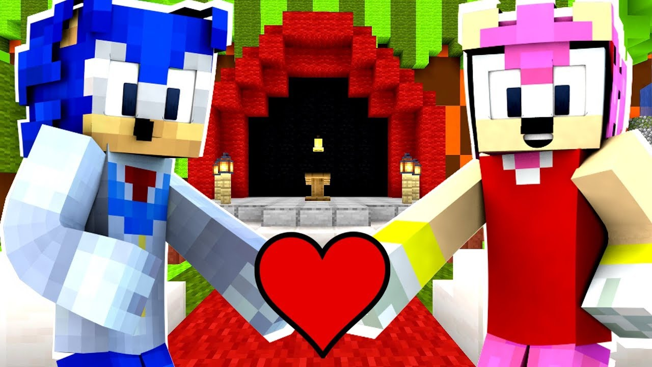Minecraft Sonic The Hedgehog - Sonic And Amy Get Married ...Sonic And Amy Wedding Naruto