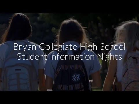 Bryan Collegiate High School Student Information Meetings
