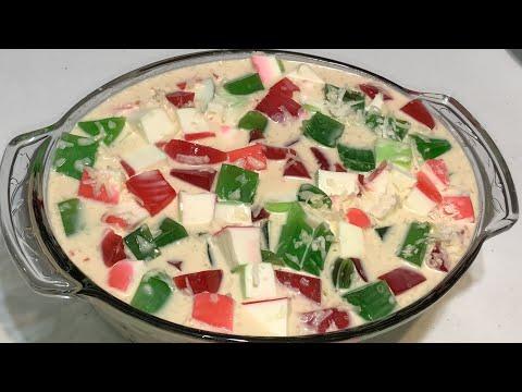 Ensalada De Gelatina Tricolor Cremosa Y Deliciosa