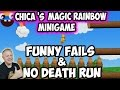 CHICA'S MAGIC RAINBOW MINIGAME | FUNNY FAILS AND NO DEATH RUN | FNAF WORLD