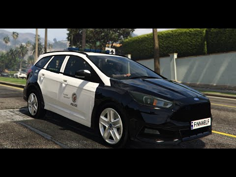 gta v mods showcases lapd 2015 ford focus st estate. Black Bedroom Furniture Sets. Home Design Ideas