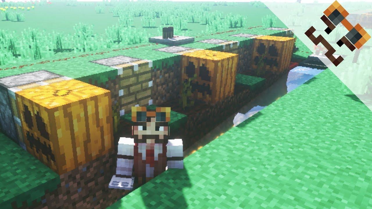 Wie Baue Ich Eine Einfache Vollautomatische Kurbisfarm Minecraft