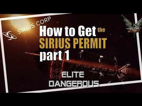 Elite Dangerous Davy Dock Sirius Permit P1