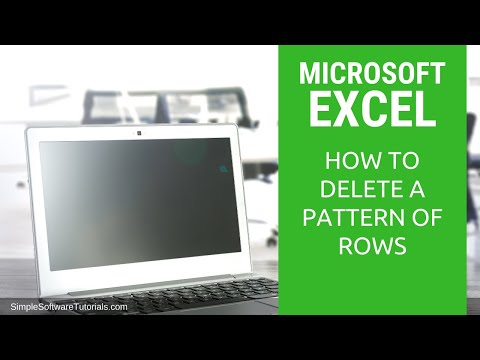 How to Delete a Pattern of Rows in Excel
