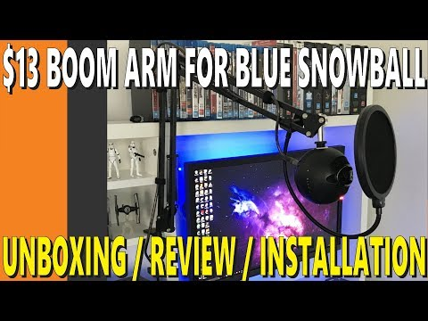 $13 Boom Arm for Blue Snowball | Unboxing/Review/Installation