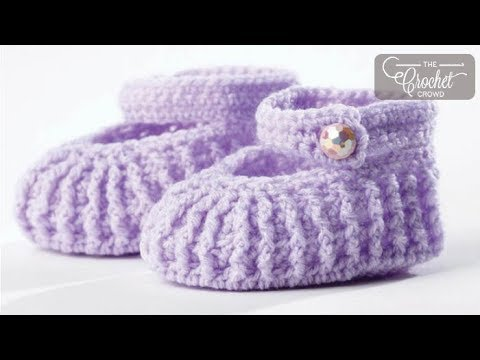 How to Crochet Baby Mary Jane Booties
