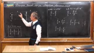 Урок 396. Формула тонкой линзы. Линейное увеличение линзы