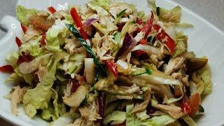 Салат из пекинской капусты и курицы. Поздний ужин